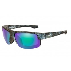 Wiley X - Compass Polarized Emerald Mirror Amber lens/ Kryptek Neptune Frame