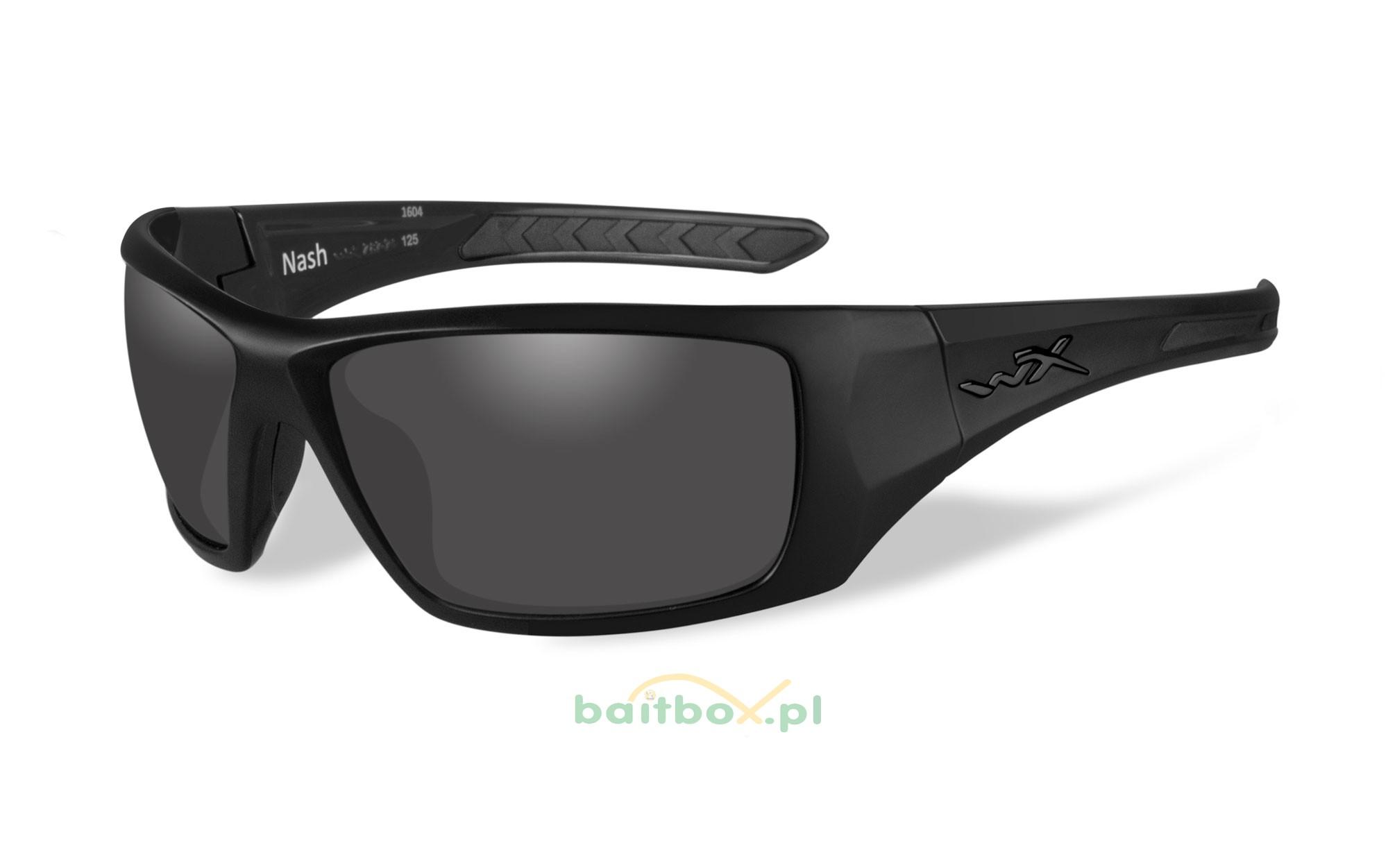 Okulary polaryzacyjne Wiley X NASH Smoke Grey Lens, Matte